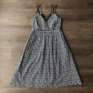 J. Crew | Blue Double Strap Embroidered Midi Dress